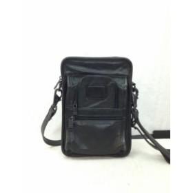e66e6bc10f7c 【古着】TUMI トゥミ レザー ショルダー バッグ ポーチ ポシェット 縦型 鞄 黒 ブラック/
