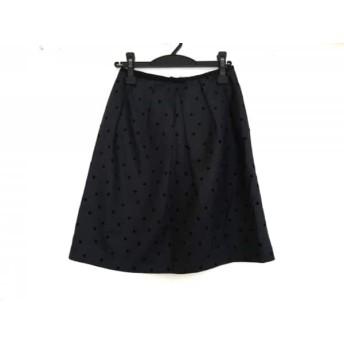 【中古】 ロイスクレヨン Lois CRAYON スカート サイズM レディース ダークネイビー 黒 ドット柄