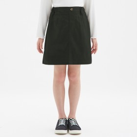 (GU)GIRLSカラースカート BLACK 150