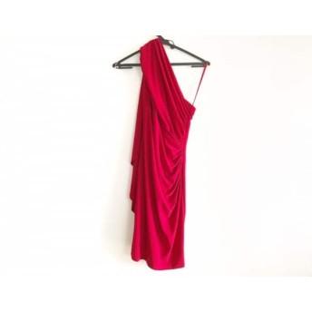 【中古】 ラルフローレン ドレス サイズ4 S レディース 美品 レッド DRESS/ワンショルダー/アシンメトリー