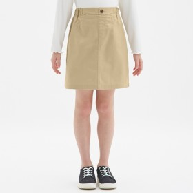 (GU)GIRLSカラースカート BEIGE 110