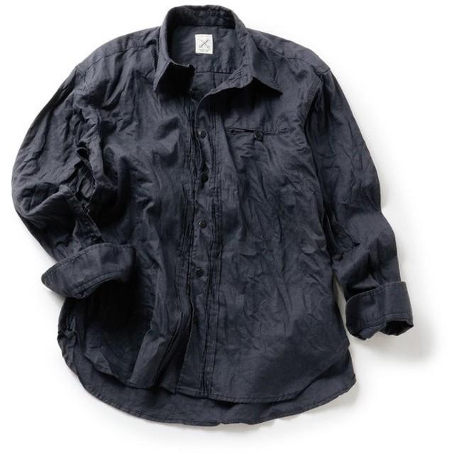 【50%OFF】 メンズビギ プリーツシャツ メンズ ネイビー M 【Men's Bigi】 【セール開催中】