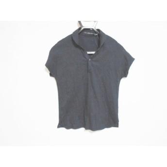 【中古】 パラスパレス Pallas Palace 半袖ポロシャツ サイズ2 M レディース ダークネイビー