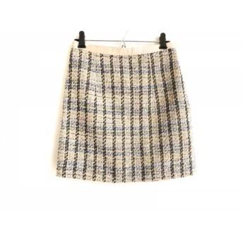 【中古】 アプワイザーリッシェ スカート サイズ2 M レディース ベージュ ネイビー マルチ