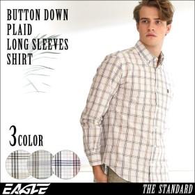 シャツ 長袖 メンズ ボタンダウン チェック柄 大きいサイズ 日本規格|ブランド EAGLE THE STANDARD イーグル|長袖シャツ カジュアル