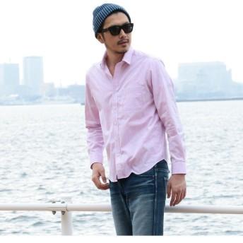 【50%OFF】 メンズビギ ビンテージアーカイブシャツ/トロピカルアロハ柄 メンズ ピンク S 【Men's Bigi】 【セール開催中】