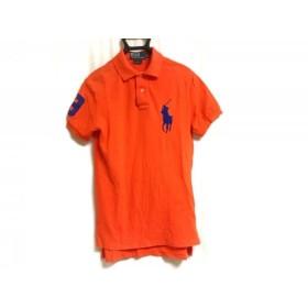 【中古】 ポロラルフローレン 半袖ポロシャツ サイズS メンズ オレンジ ブルー ビッグポニー/刺繍