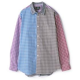 【50%OFF】 メンズビギ マルチカラークレイジーシャツ メンズ チェック M 【Men's Bigi】 【セール開催中】
