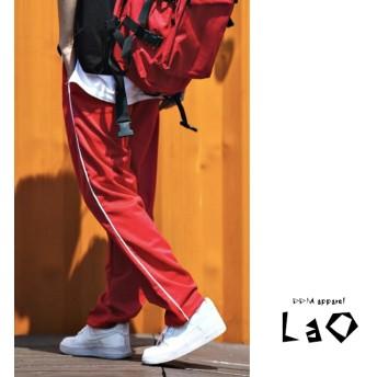 韓国ファッション「パイピングサイドラインロングパンツ」韓国トレーナーパンツ