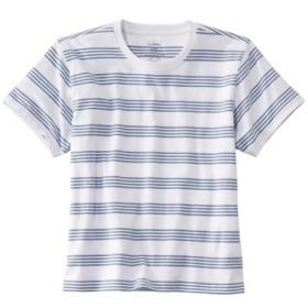 サタデーTシャツ、クルーネック ストライプ 半袖/Saturday T-Shirt Crewneck Short-Sleeve Stripe