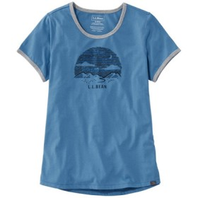 レディース・エル・エル・ビーン・キャンプ・ティ、半袖/Women's L.L.Bean Graphic Camp Tee Short-Sleeve