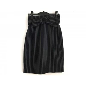 【中古】 アプワイザーリッシェ スカート サイズ1 S レディース 美品 ネイビー ライトグレー