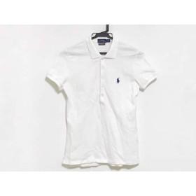 【中古】 ポロラルフローレン POLObyRalphLauren 半袖ポロシャツ サイズS レディース 白 ネイビー