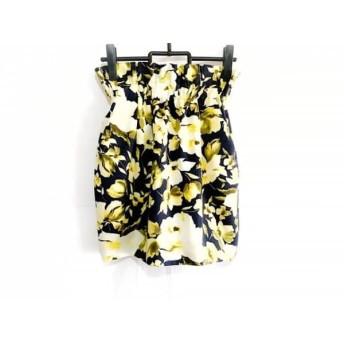 【中古】 フレイアイディー FRAY I.D スカート サイズ1 S レディース イエロー 黒 花柄