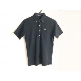 【中古】 フレッドペリー FRED PERRY 半袖ポロシャツ サイズS レディース 黒 ライトブルー オレンジ