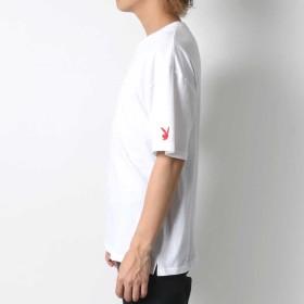 Tシャツ - MARUKAWA プレイボーイ Tシャツ メンズ 夏 ボックス ロゴ プリント 半袖 ホワイト/ブラック M/L【 ティーシャツ ストリート アメカジカジュアル】