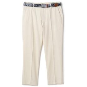 【20%OFF】 メンズビギ ベルト付きコットンリネンクロップドパンツ メンズ ホワイト M 【Men's Bigi】 【セール開催中】