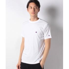 マルカワ チャンピオン 無地 ワンポイント 半袖Tシャツ メンズ ホワイト M 【MARUKAWA】