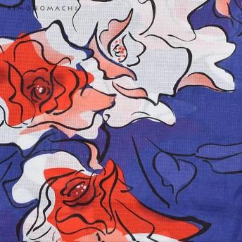 浴衣 - KIMONOMACHI 京都きもの町オリジナル 浴衣セット「ブルー薔薇」S、フリー、TL、LL浴衣、浴衣帯、下駄女性浴衣3点セット花火大会、夏祭り、夏フェスに