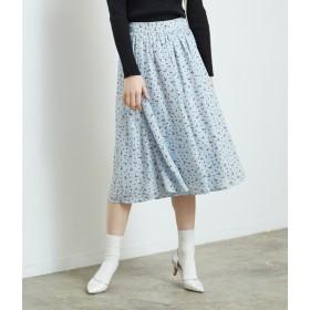ロングスカート - ROPE' PICNIC 花柄ギャザースカート
