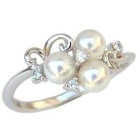 真珠 指輪 あこや本真珠 パール リング SVシルバー キュービックジルコニア 指輪 おしゃれ