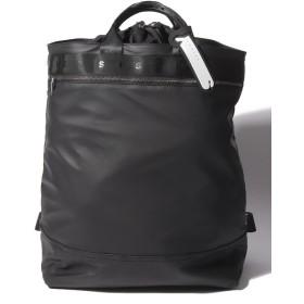 【60%OFF】 シスレー ロゴバケツ型バックパック・リュックサック メンズ ブラック ST 【SISLEY】 【タイムセール開催中】
