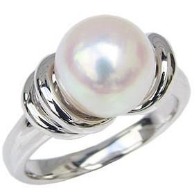 リング パール 指輪 あこや真珠パールリング ホワイトゴールド  ジュエリー 指輪 おしゃれ