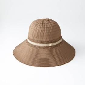 ハット 帽子 レディース 40代 30代 たためる おしゃれ きれいめ エレガント ブラウン