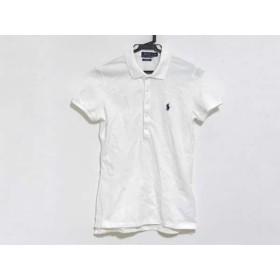 【中古】 ポロラルフローレン 半袖ポロシャツ サイズS レディース 美品 白 STRETCH MESH
