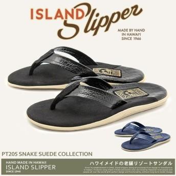 アイランドスリッパ ISLAND SLIPPER サンダル メンズ スネーク スウェード コレクション PT205 トングサンダル