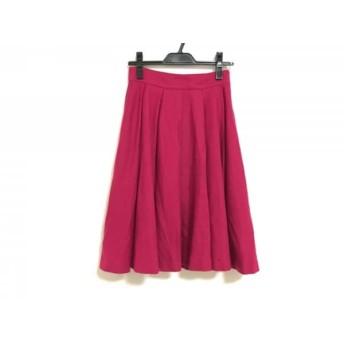 【中古】 ブルーレーベルクレストブリッジ スカート サイズ36 S レディース ピンク