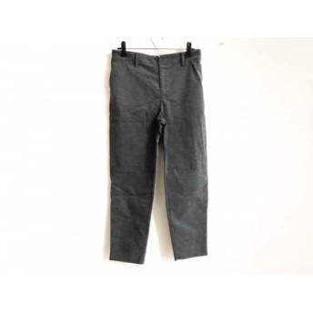【中古】 ミズイロインド mizuiro ind パンツ サイズ1 S レディース ダークグレー