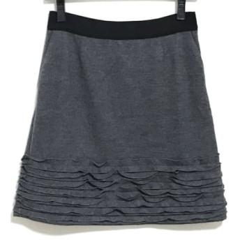 【中古】 ランバンオンブルー LANVIN en Bleu スカート サイズ36 S レディース ダークグレー 黒 フリル