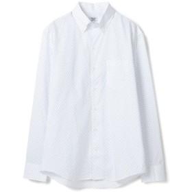 【50%OFF】 メンズビギ 小紋柄ボタンダウンシャツ/コットン100% メンズ ホワイト系その他 M 【Men's Bigi】 【セール開催中】