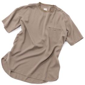【50%OFF】 メンズビギ ボタンポケットTシャツ メンズ ベージュ L 【Men's Bigi】 【セール開催中】