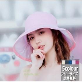 サファリハット つば広 帽子 春夏 ファッション 新作 紫外線対策 オシャレ 無地 日焼け止め サンバイザー UVカットハット レディース