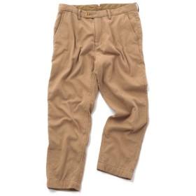 【50%OFF】 メンズビギ 二重織りコットンパンツ メンズ キャメル S 【Men's Bigi】 【セール開催中】
