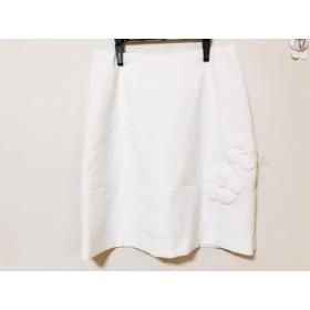 【中古】 ルネ Rene ミニスカート サイズ36 S レディース 白 フラワー