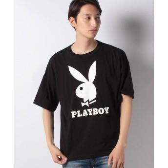 マルカワ プレイボーイ ビッグシルエット アイコンロゴ 半袖Tシャツ メンズ ブラック L 【MARUKAWA】