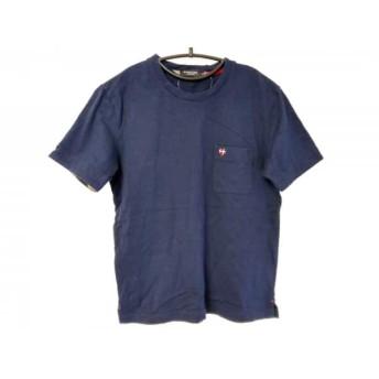 【中古】 ブラックレーベルクレストブリッジ 半袖Tシャツ メンズ ネイビー ハート
