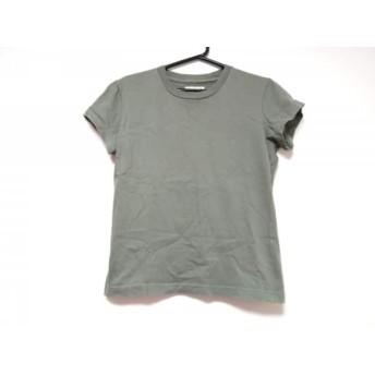 【中古】 アニエスベー agnes b 半袖Tシャツ サイズ1 S レディース カーキ