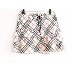 【中古】 バーバリーブルーレーベル ミニスカート サイズ36 S レディース ベージュ 黒 マルチ