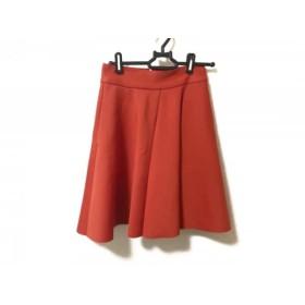 【中古】 エムエスジィエム MSGM スカート サイズ38 M レディース 美品 レッド