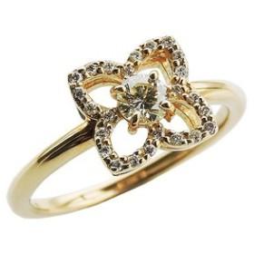 ダイヤモンド リング ダイヤモンド指輪 ダイヤモンド 0.30ct フラワー花モチーフ 18金 ゴールド K18 送料無料 誕生日 指輪 おしゃれ