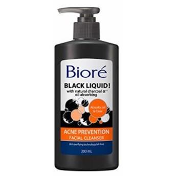 ビオレ ブラックリキッド フェイシャルクレンザー 200ml USABiore 洗顔料