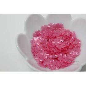 スパンコール 約7.6g分 5枚花びら10mm マット半透明ピンク(SF510MPKBJHS)