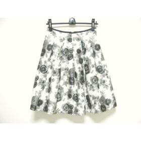 【中古】エムズグレイシー M'S GRACY スカート サイズ38 M レディース 美品 白x黒xグレー 新着 20190325