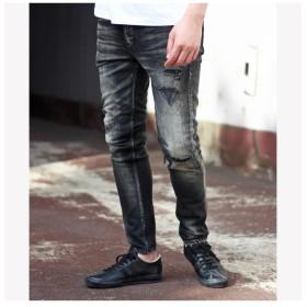 メンズビギ 別注distressed jeans メンズ ライトグレー L 【Men's Bigi】