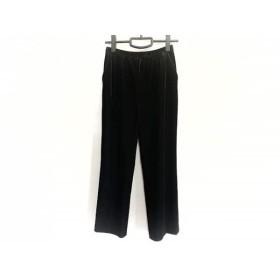 【中古】 レリアン Leilian パンツ サイズ9 M レディース 黒 ベロア