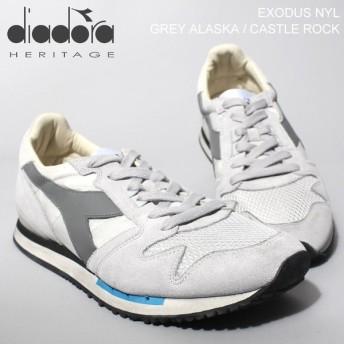 ディアドラ diadora エクソダス ナイロン グレーアラスカ スニーカー メンズ